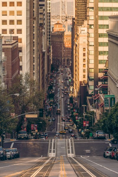 California Street in San Francisco remains one of my all time favorite streets in this part of the world
